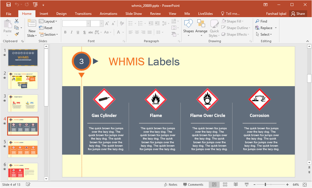 animated whmis powerpoint template