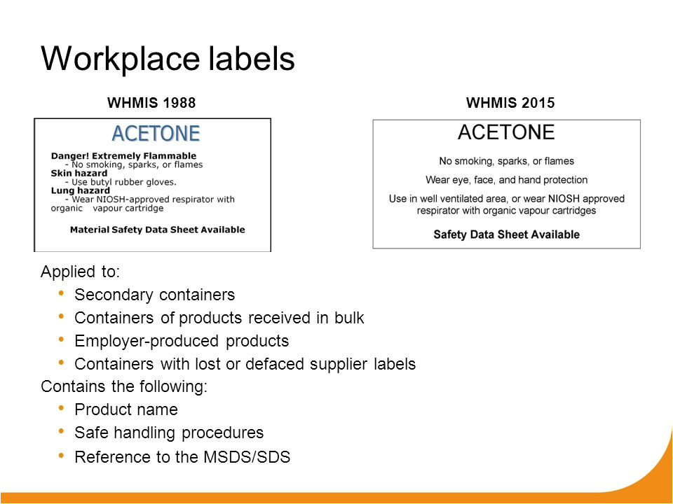 Whmis Workplace Label Template Ohs Webinar Workplace Hazardous Materials Information
