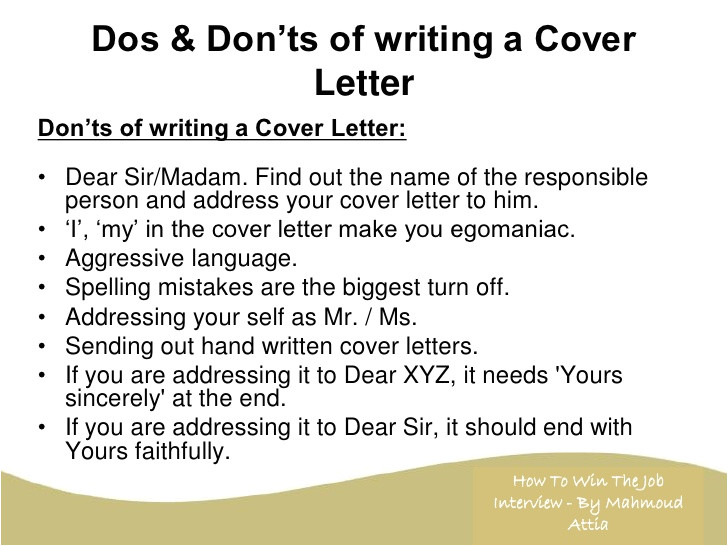 cover letter address unknown