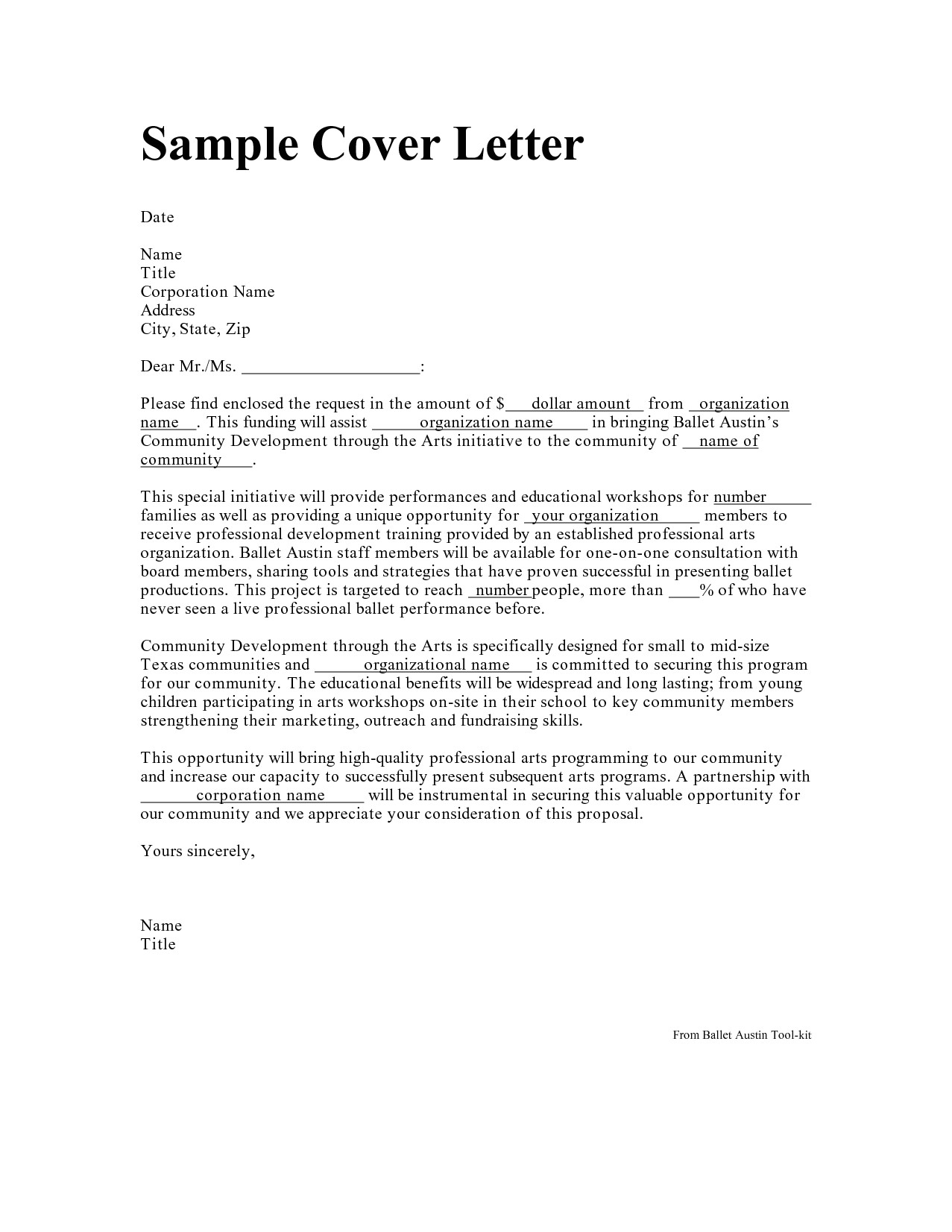 addressing cover letter