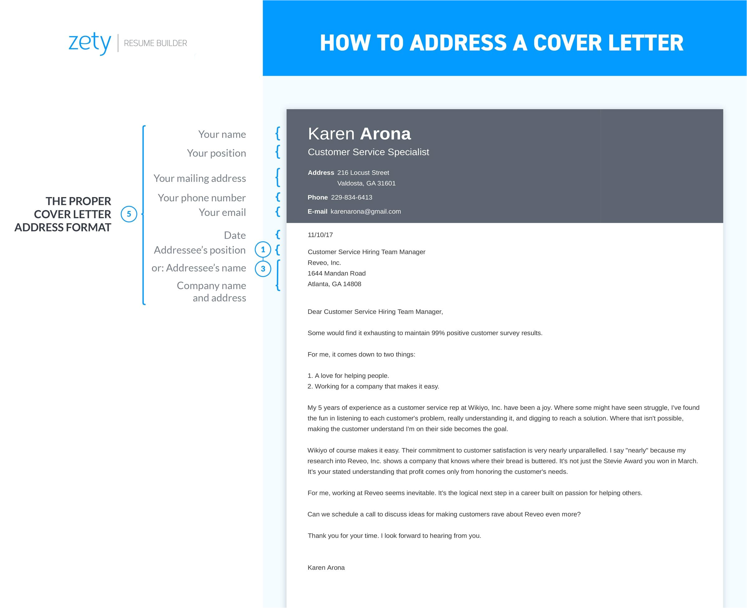 how to address a cover letter