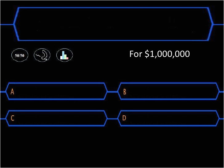 Who Want to Be A Millionaire Game Template who Wants to Be A Millionaire Template