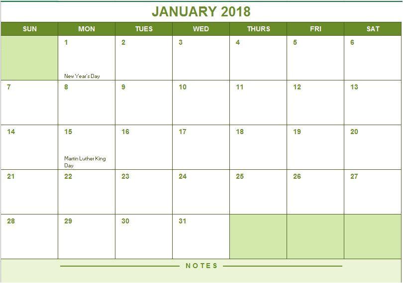 2017 full year calendar microsoft excel template