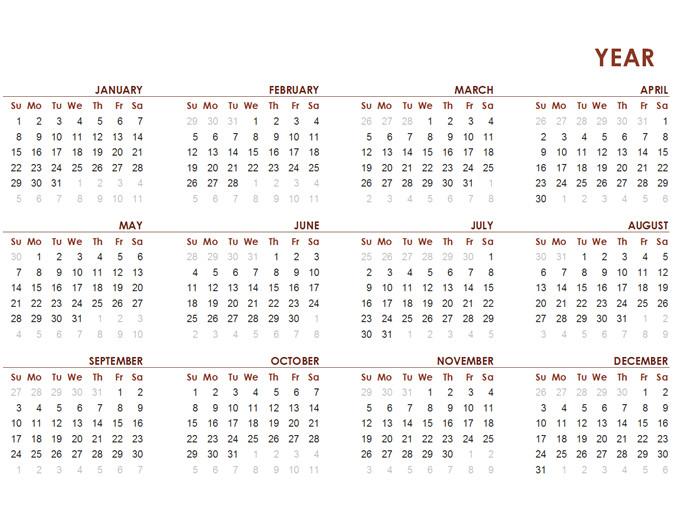full year global calendar tm03427459