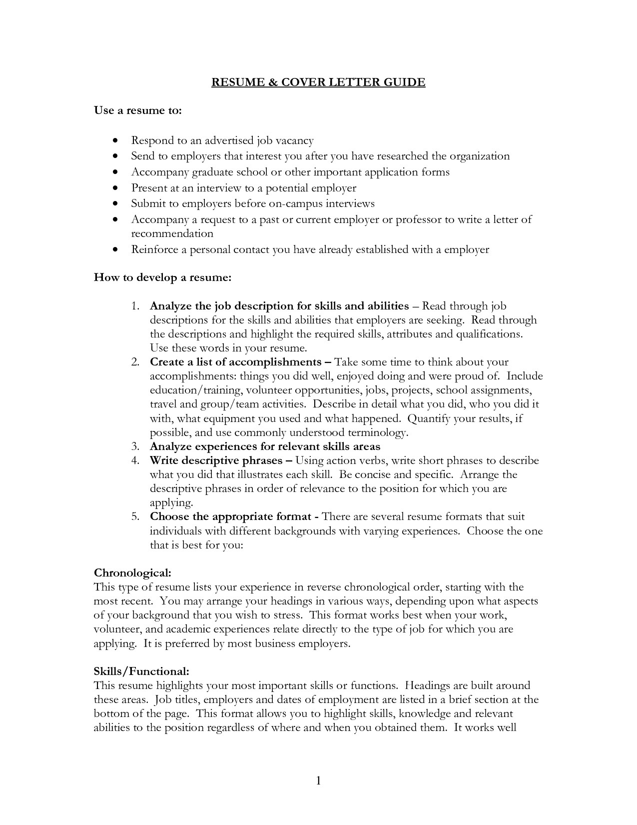 cover letter for resume what to write