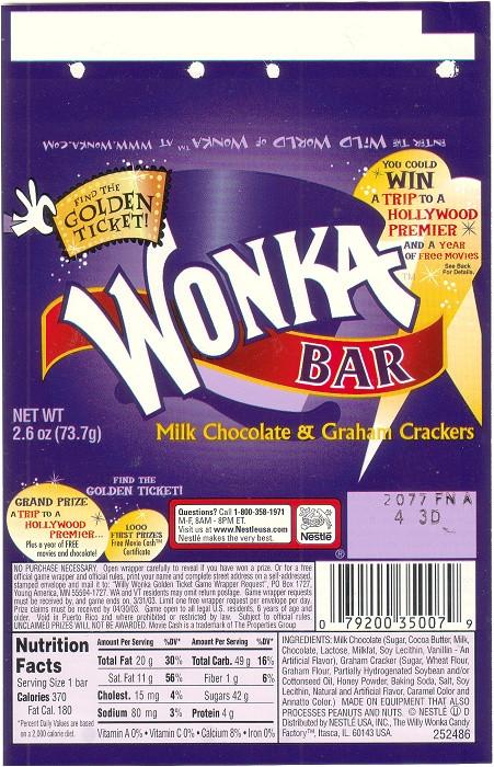 2002 wonka bar