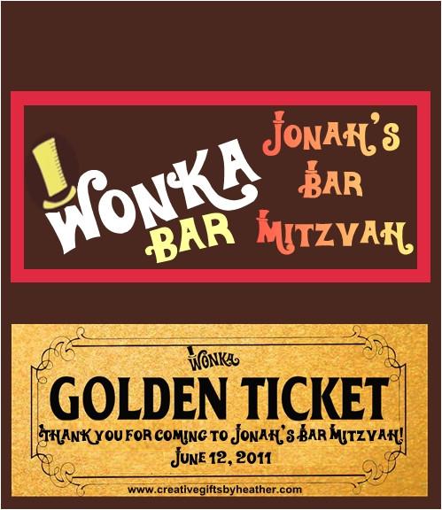 wonka bar template