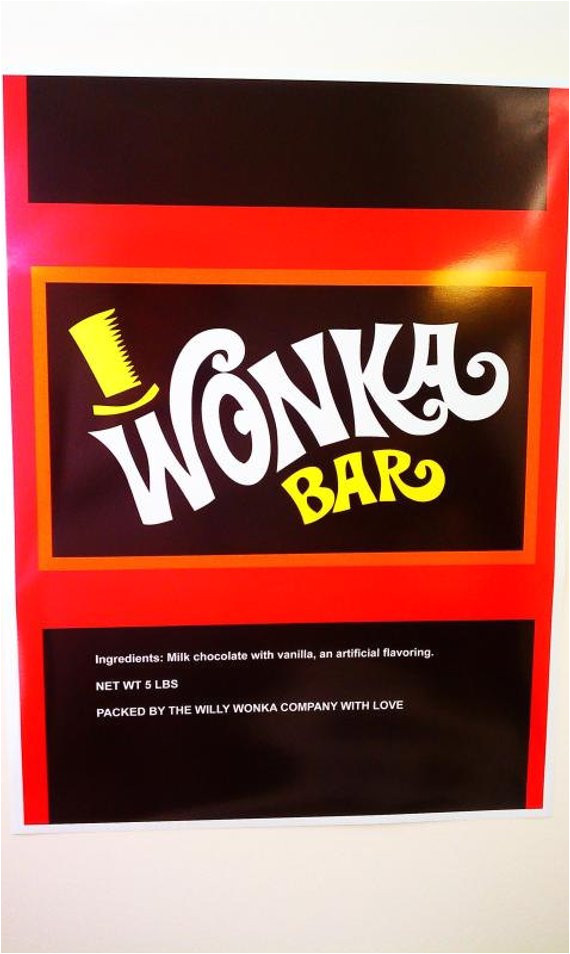 worlds largest willy wonka bar wrapper