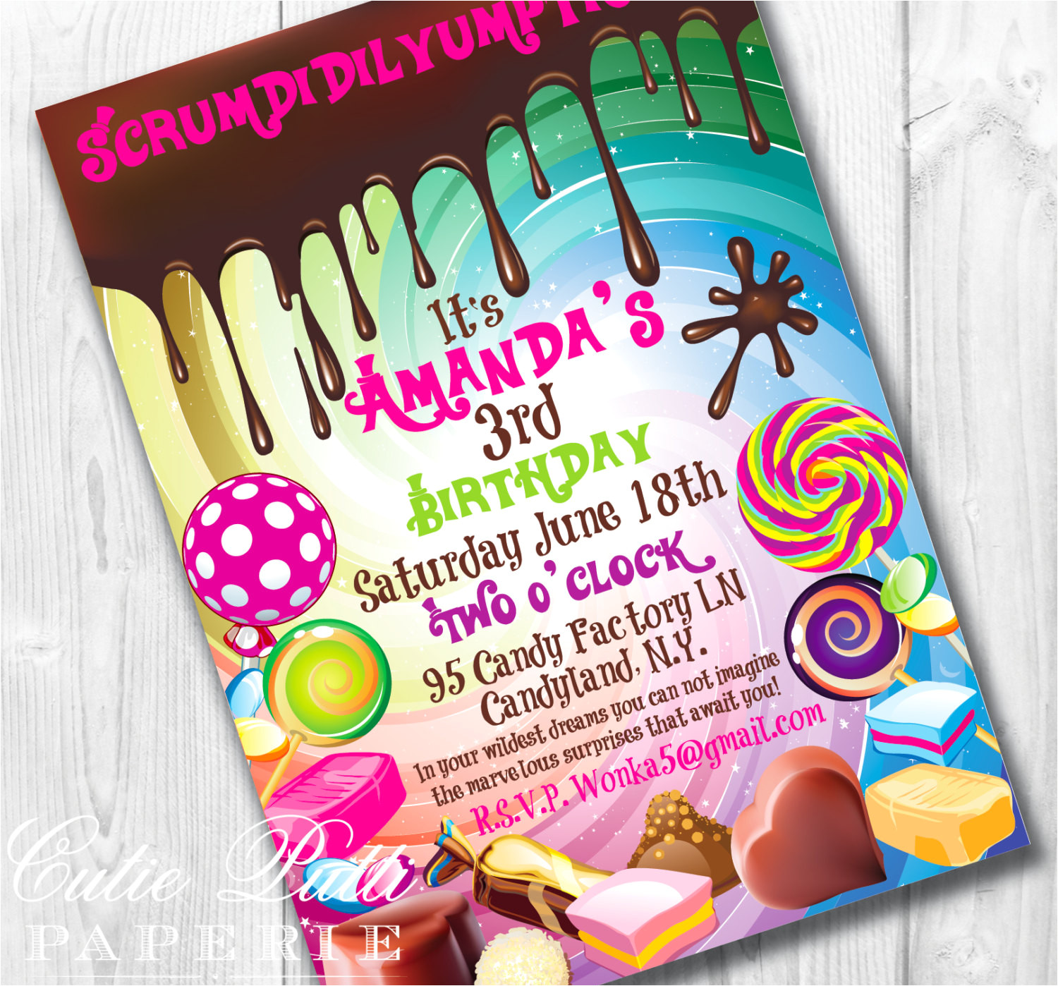 Willy Wonka Invitations Templates Willy Wonka Birthday Invitations Willy Wonka Invite Wonka