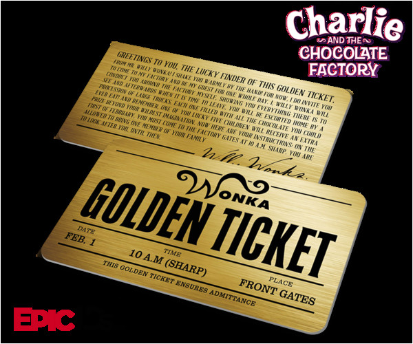 Willy Wonka Invitations Templates Willy Wonka Charlie and the Chocolate Factory Golden