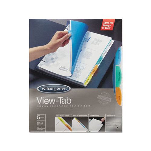Wilson Jones 8 Tab Template Wilson Jones View Tab Transparent Index Dividers
