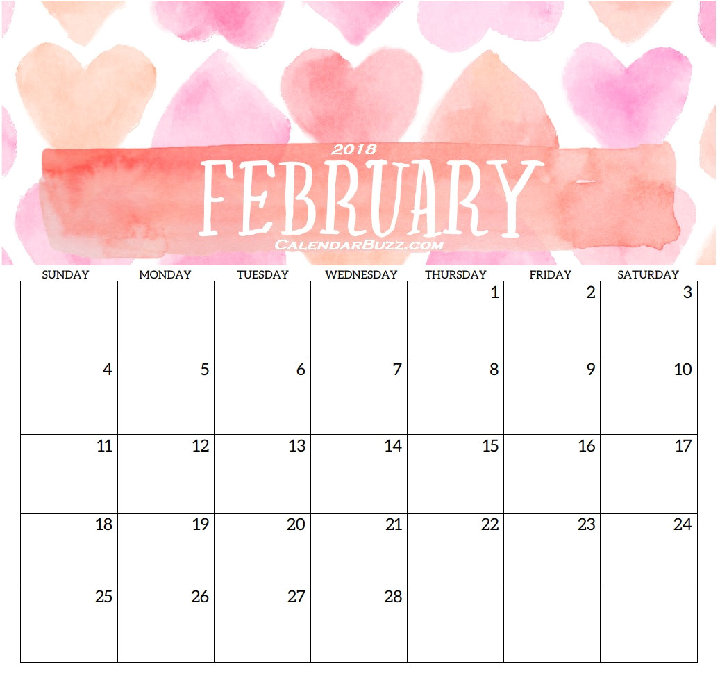 blank templates monthly 2018