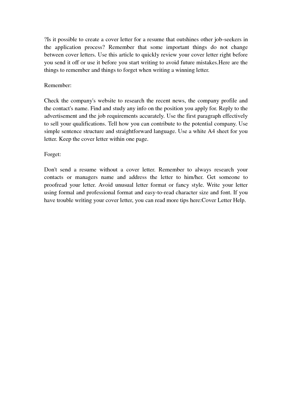 kennel technician cover letter
