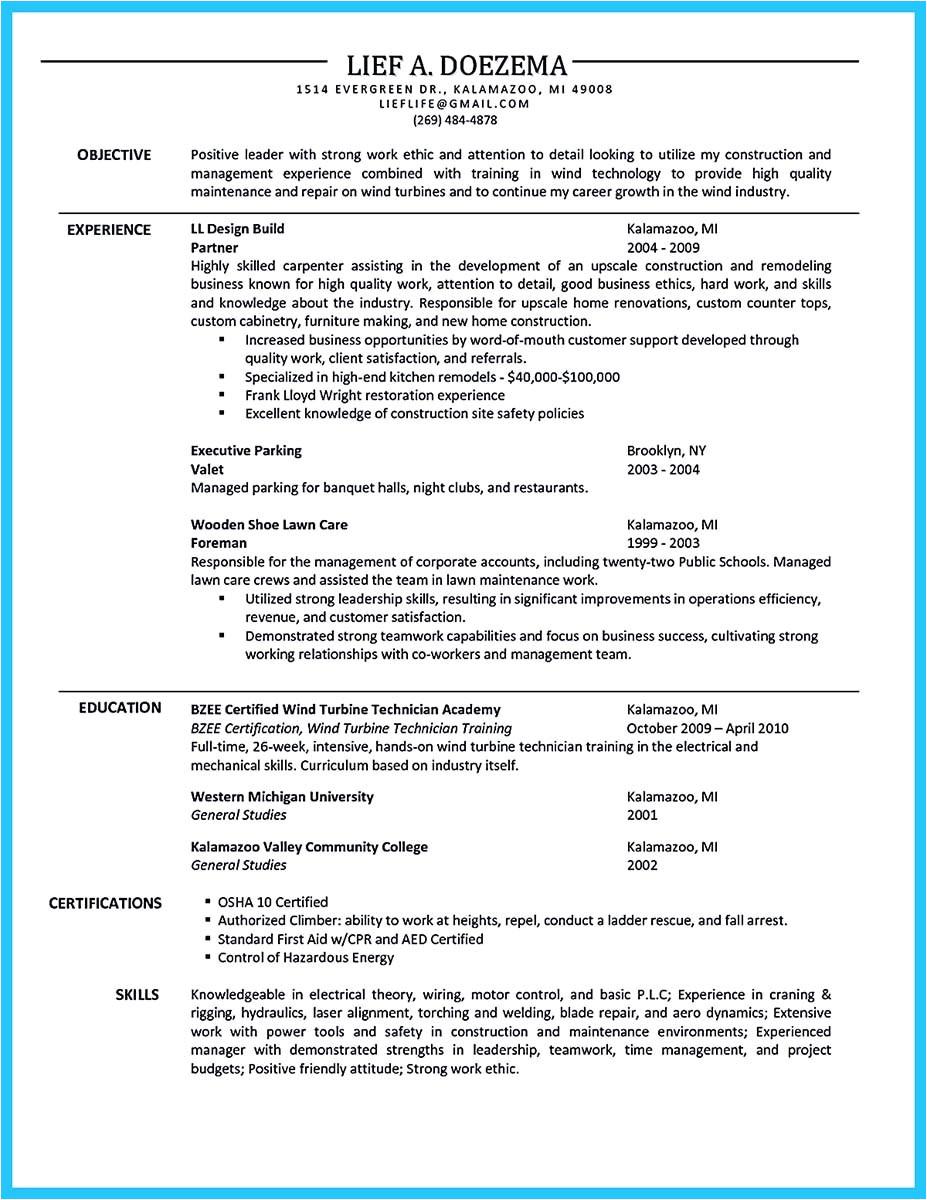 wind turbine technician cover letter