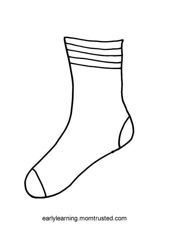 socks for fox printable