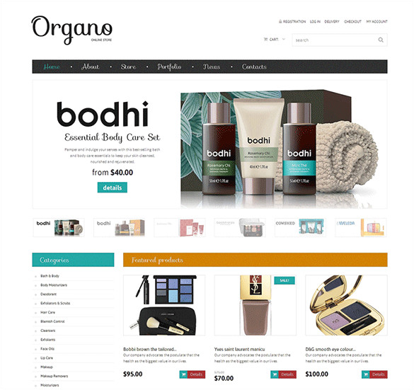 Woo Commerce Template 3 Cosmetics Store Woocommerce themes Templates Free