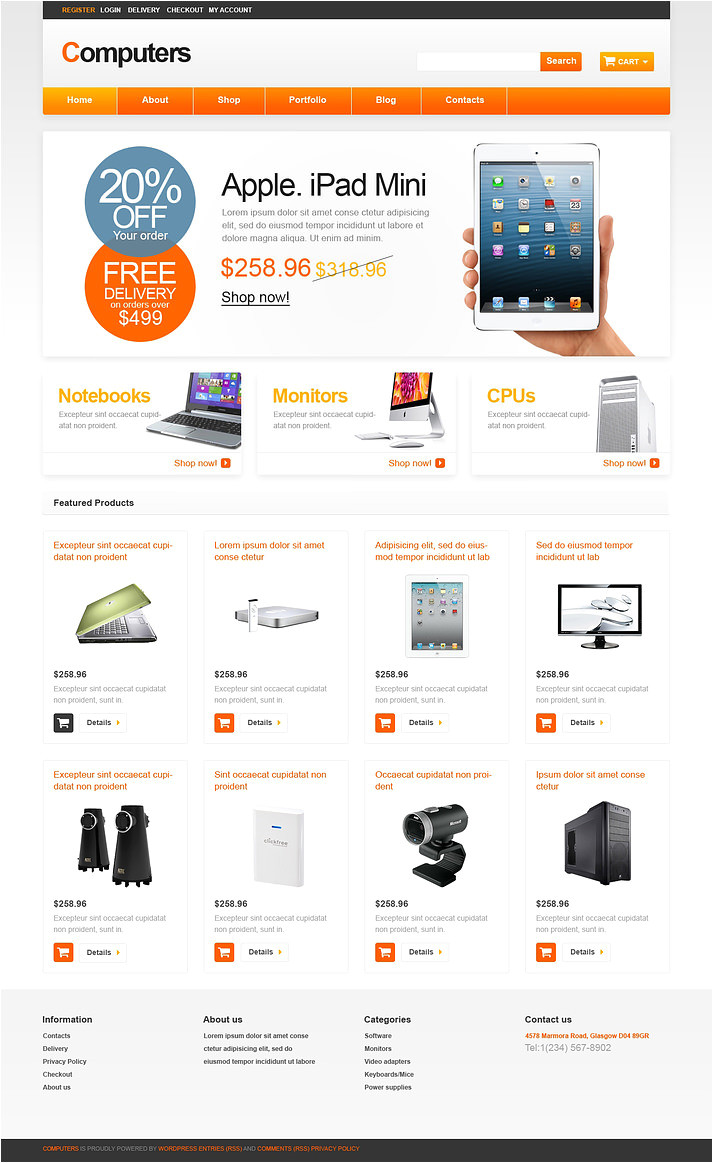 Woo Commerce Template 5 Best Computer Store Woocommerce Templates themes