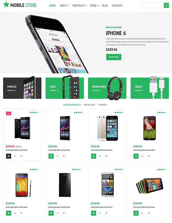 mobile store woocommerce theme