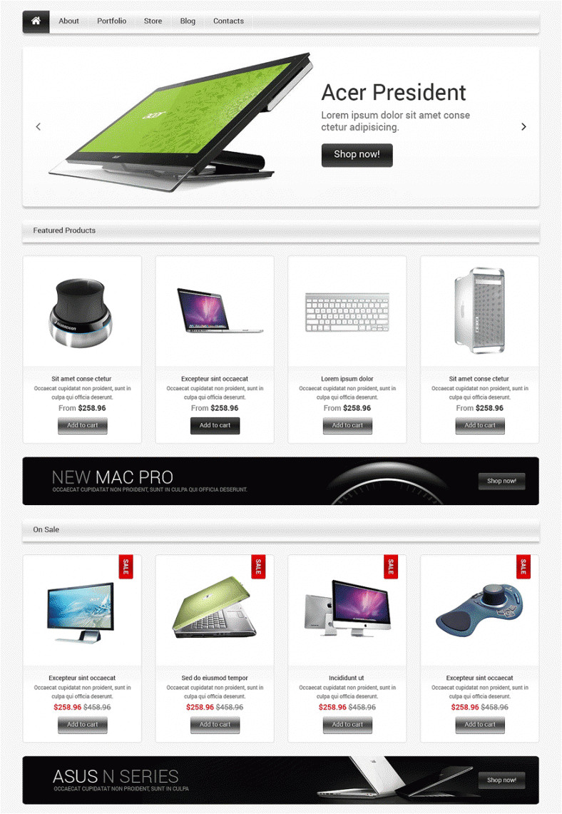 Woo Commerce Template Computer Store Woocommerce Templates themes Free Premium