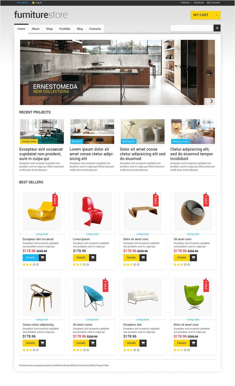 Woo Commerce Template Furniture Woocommerce Website Templates themes Free