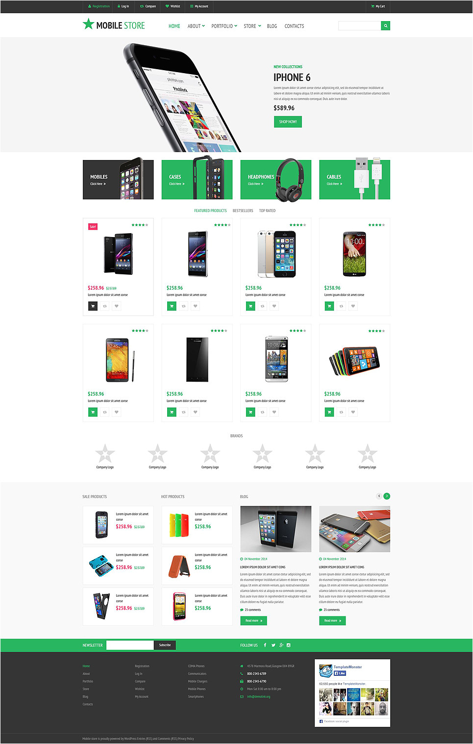 Woo Commerce Template Template 53657 Ensegna themes
