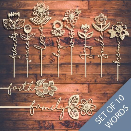 Wood Cutting Templates Laser Cut Word Flower Templates Online Store Free Vector