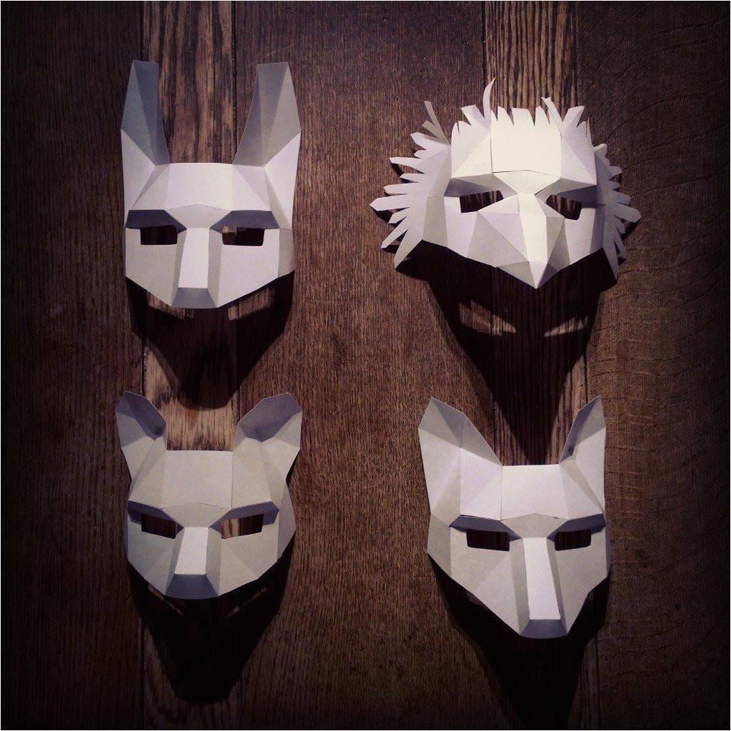 woodland animal mask set