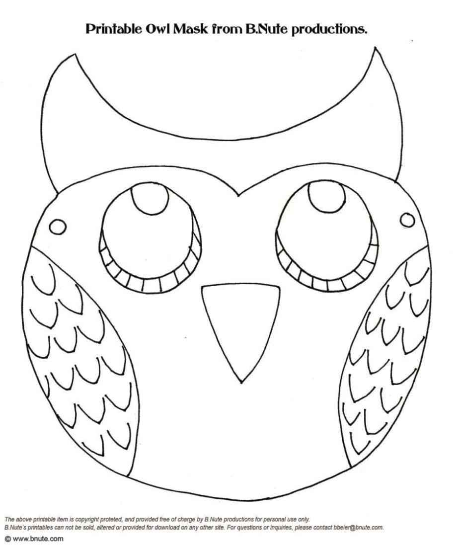 woodland animal mask templates