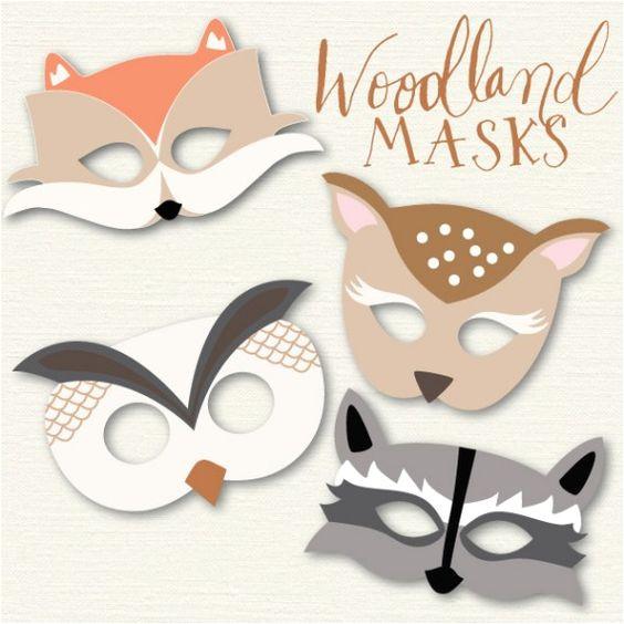 Woodland Animal Mask Templates Woodland Animal Masks My Blog Posts Pinterest
