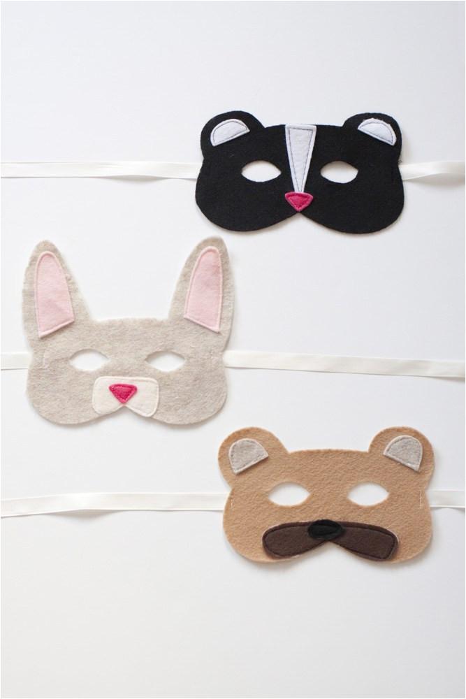 Woodland Animal Masks Template Tutorial Woodland Animals Felt Mask Diy Sewbon
