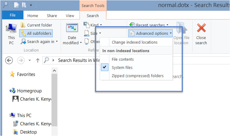 word 2010 normal template file location
