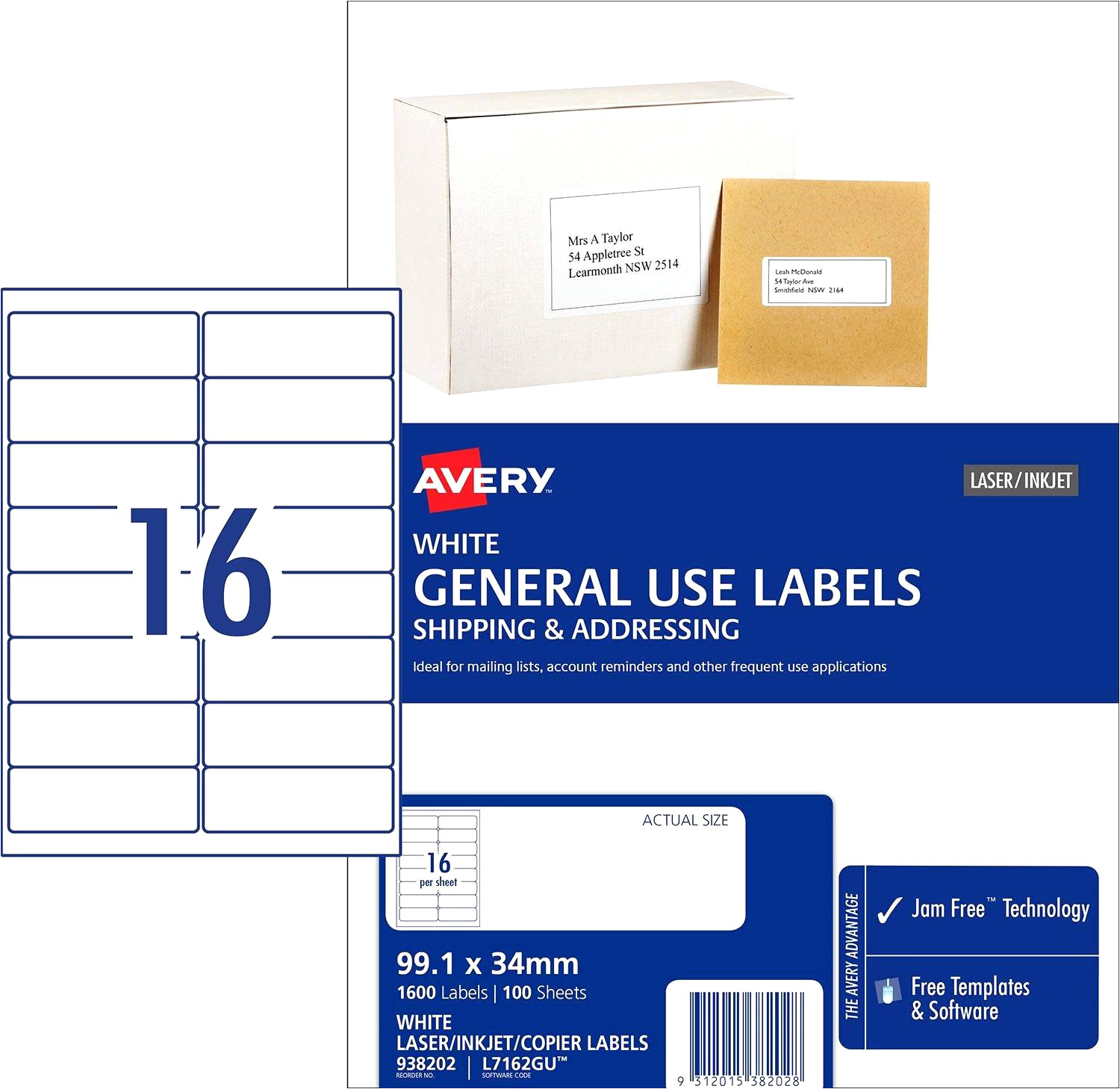 word label template 16 per sheet a4