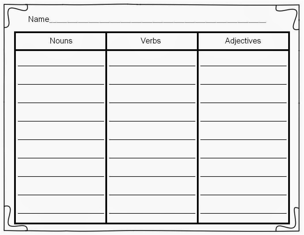 blank word sort template pdf