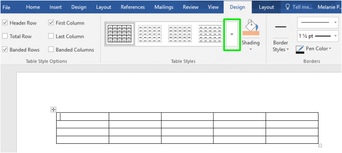 Word Tables Templates How to Create Table Templates In Microsoft Word