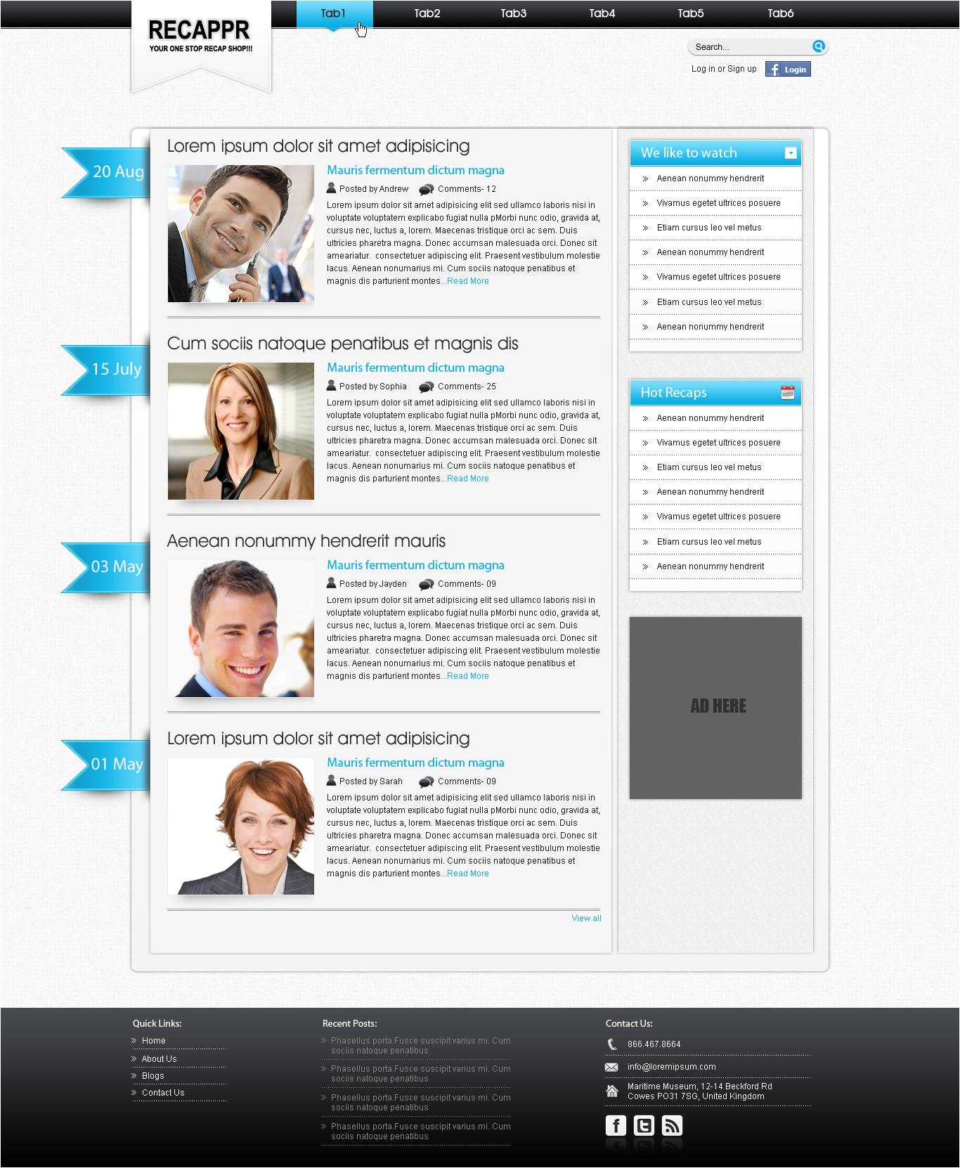 WordPress Blog Template PHP WordPress Blog Template by Swati05 On Deviantart
