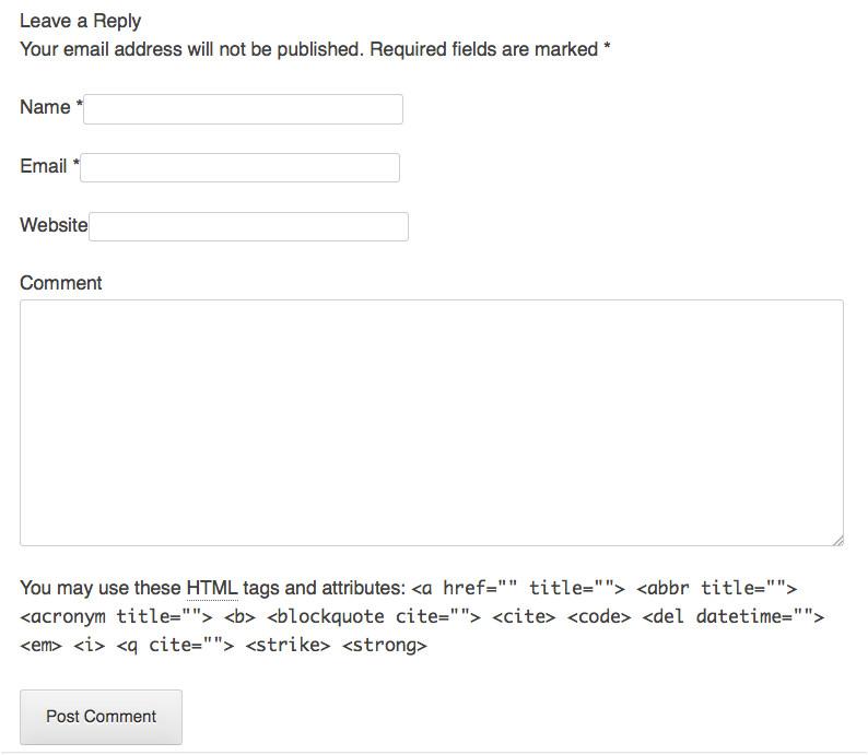 WordPress Comments Template the WordPress theme Comments Template themeshaper