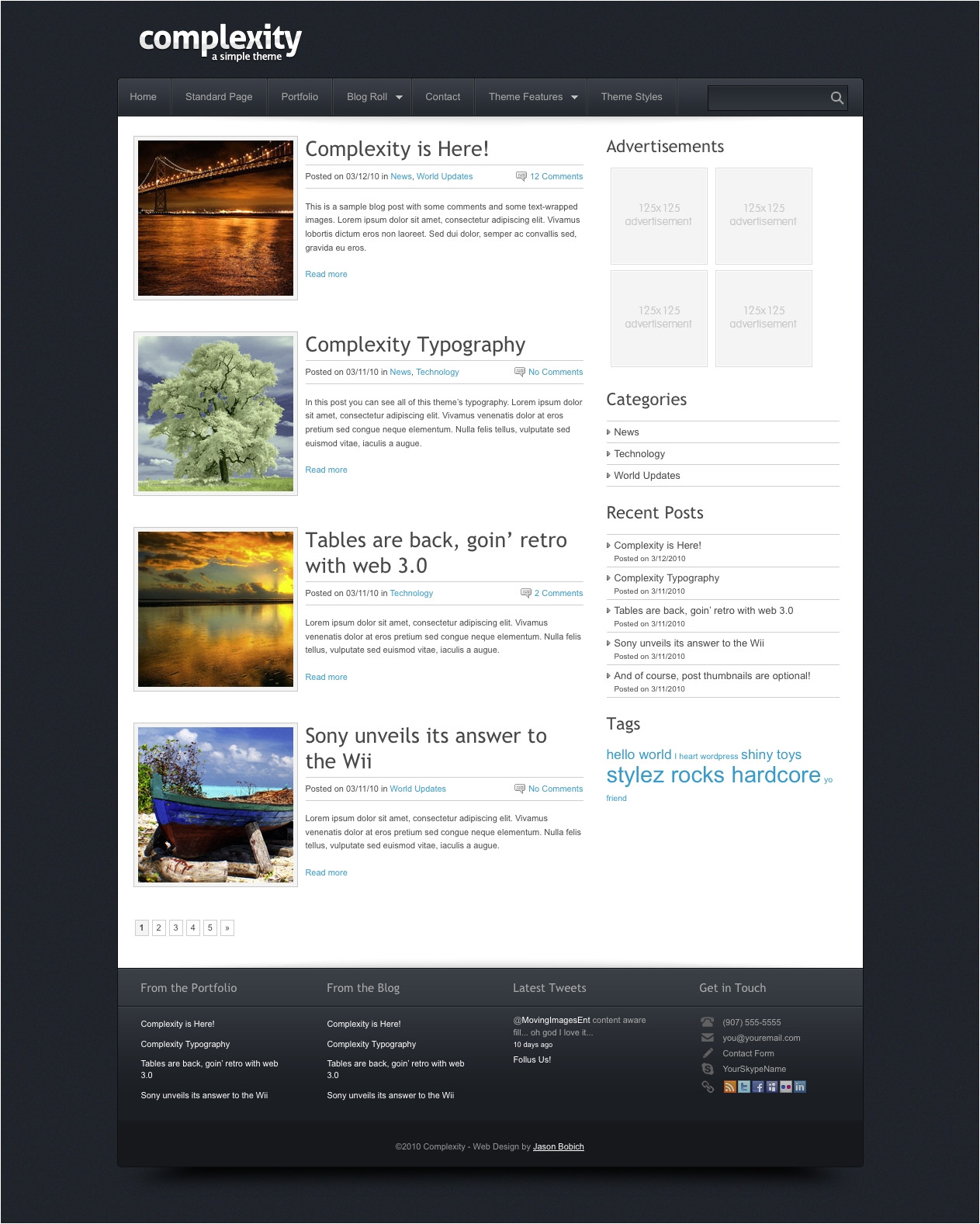 WordPress Create Blog Page Template WordPress Blog Page Template Beepmunk
