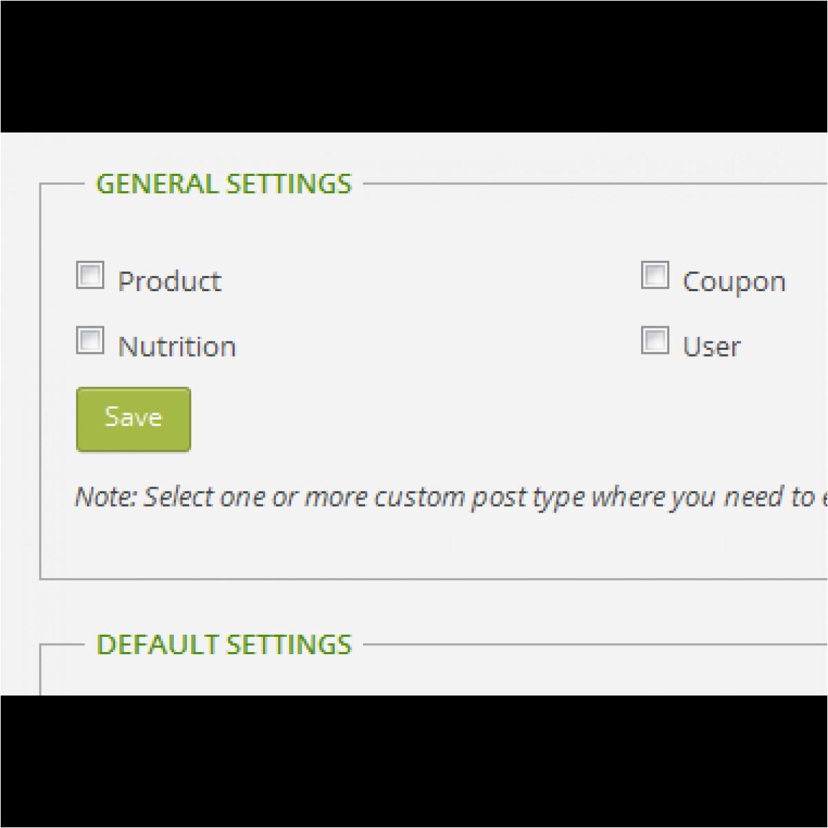 wp custom post template