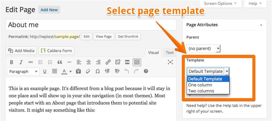 WordPress Page Template Tutorial Custom Page Templates Pinegrow Web Editor