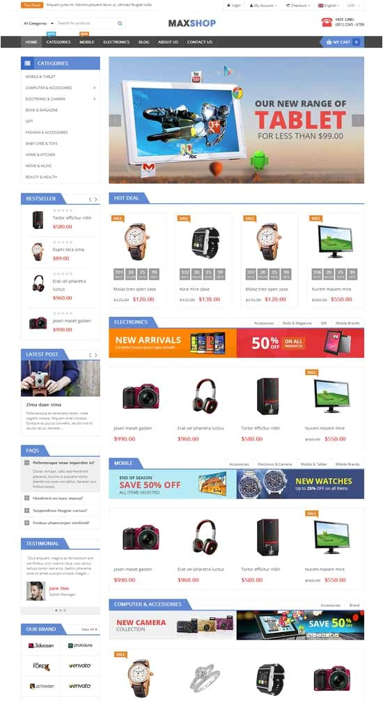 awesome html css shopping cart template free download 47 best free e merce themes 2018 freshdesignweb