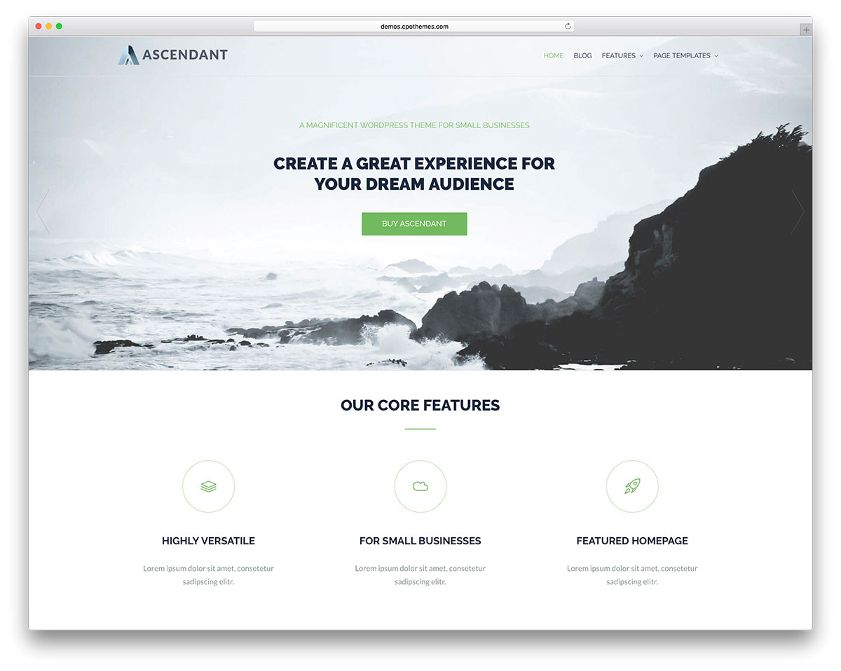 free parallax scrolling themes