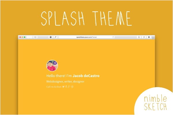 splash page template