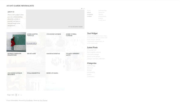 minimaliste wordpress template