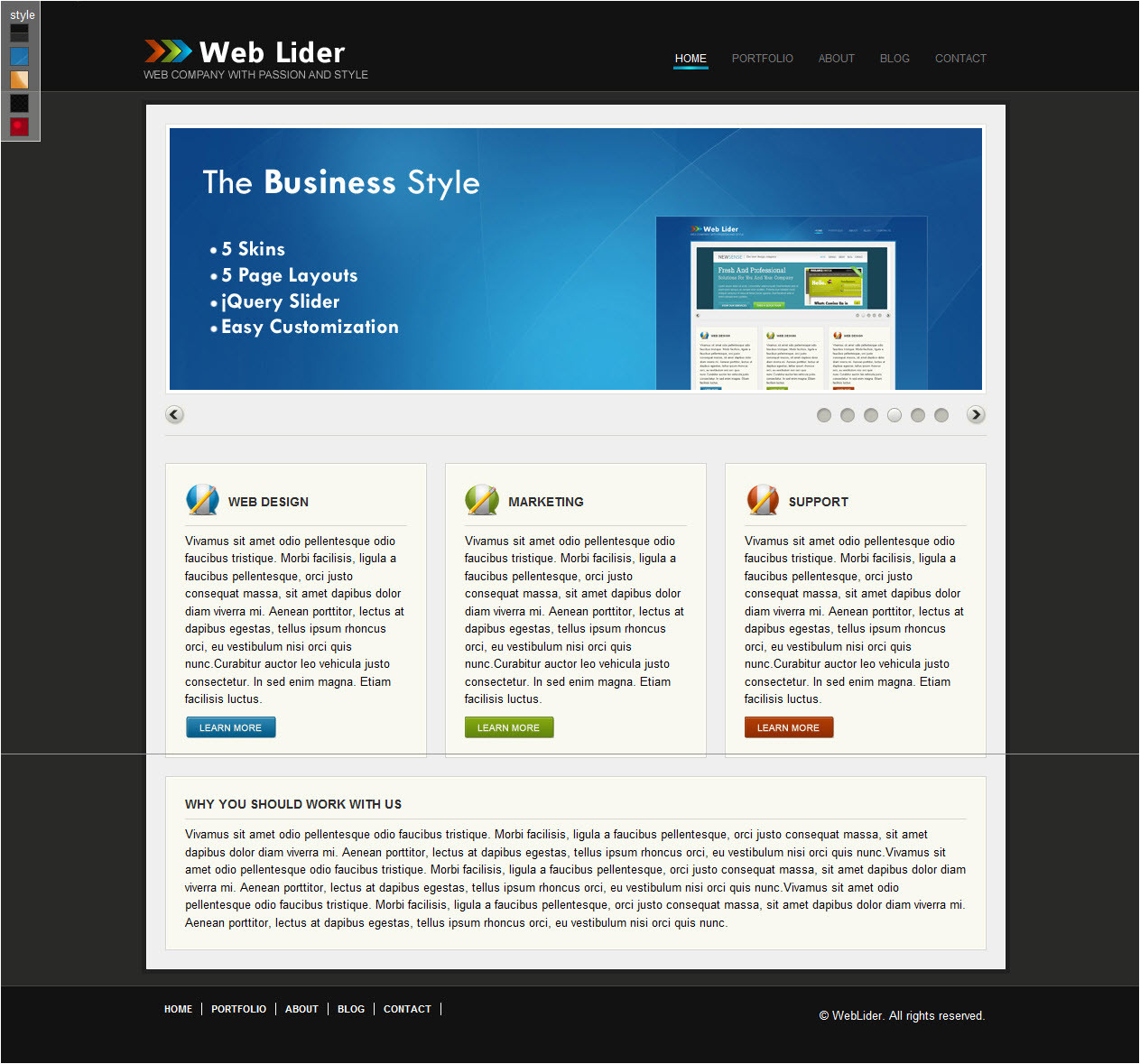 weblider business template