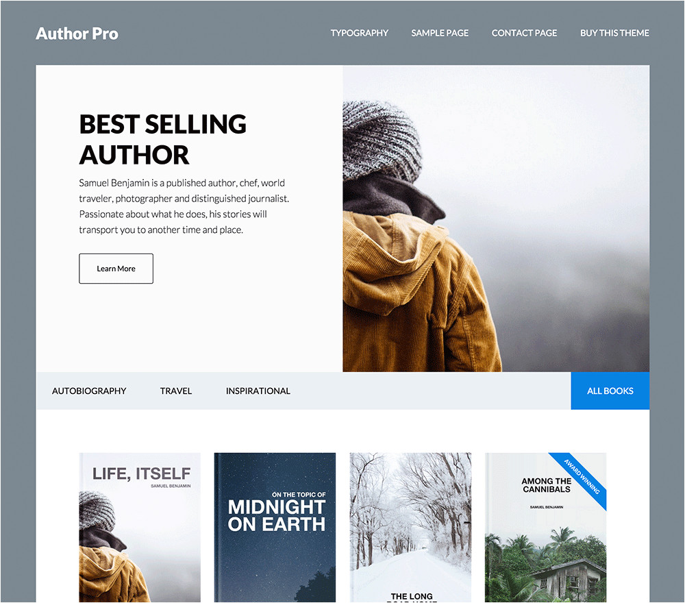 WordPress Templates for Authors Author Pro WordPress theme the Fastest WordPress themes