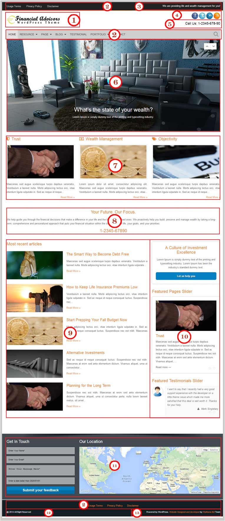 financial advisors theme documentation