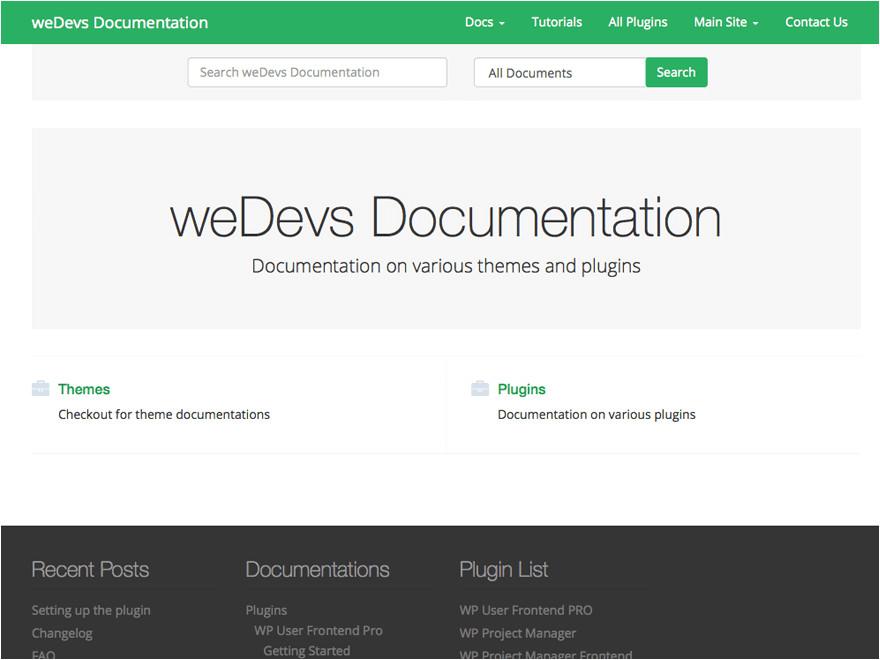 wedocs free documentation theme
