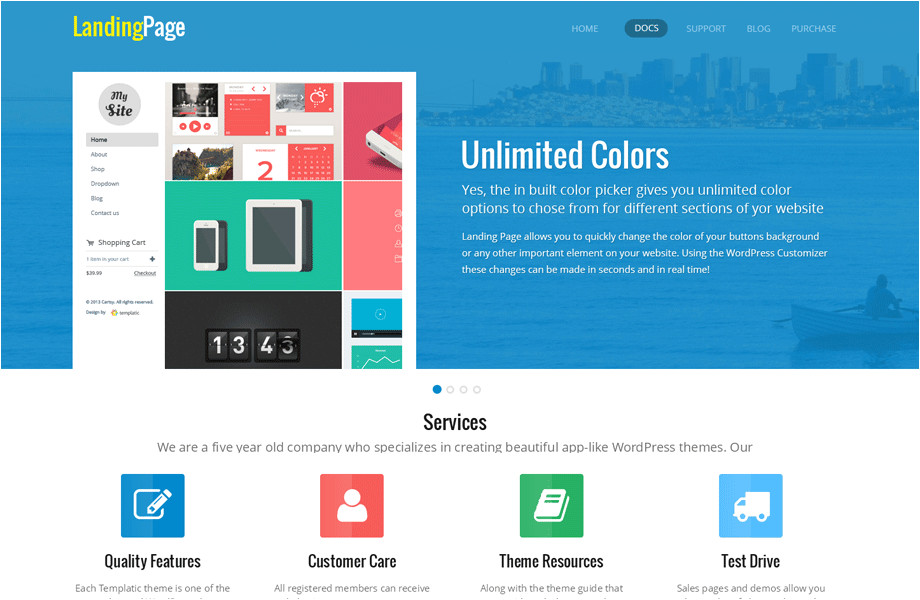 WordPress theme with Multiple Page Templates 15 Best Premium Landing Page WordPress themes In 2017