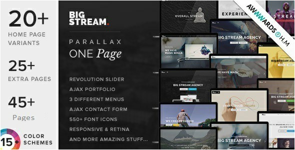 best responsive one page joomla templates