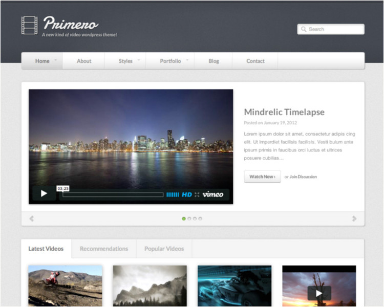 video blog themes